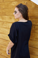 ZIA // casual (dress) t-shirt - black - LAST ONE