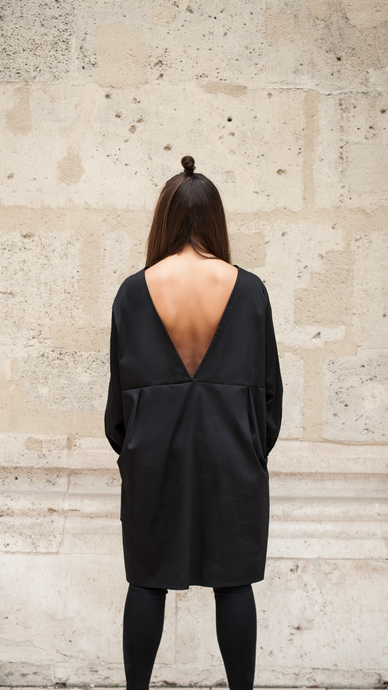 ZIA // cruz dress - black