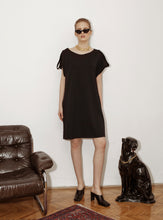 RETRO BASIC T-SHIRT DRESS / black