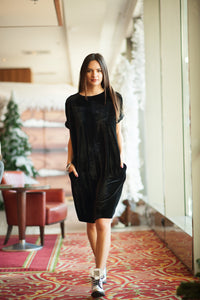 ZIA // all black velvet dress - L a S t O n E