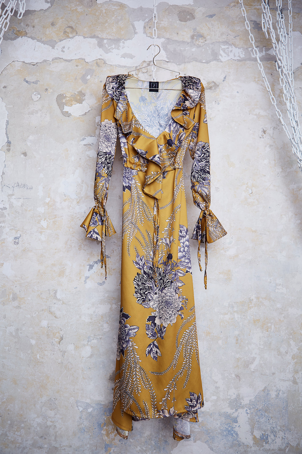 ZIA // printed maxi dress - yellow - LAST ONE