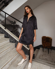 VEGAN LEATHER T-SHIRT DRESS