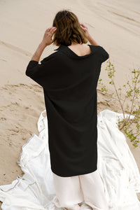 THE BOMBSHELL BUTTON DOWN IN BLACK dress - last one