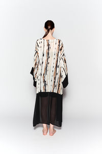 PRINTED NATURAL IMPERFECTION MAXI KIMONO
