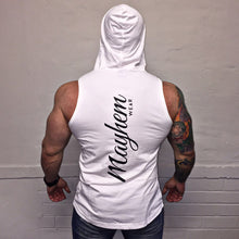 White Hoody Vest With Black Logo