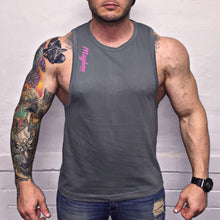 Grey LAH Vest With Pink Logo
