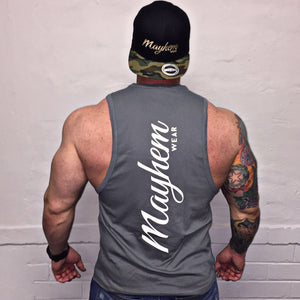 Grey LAH Vest With White Logo