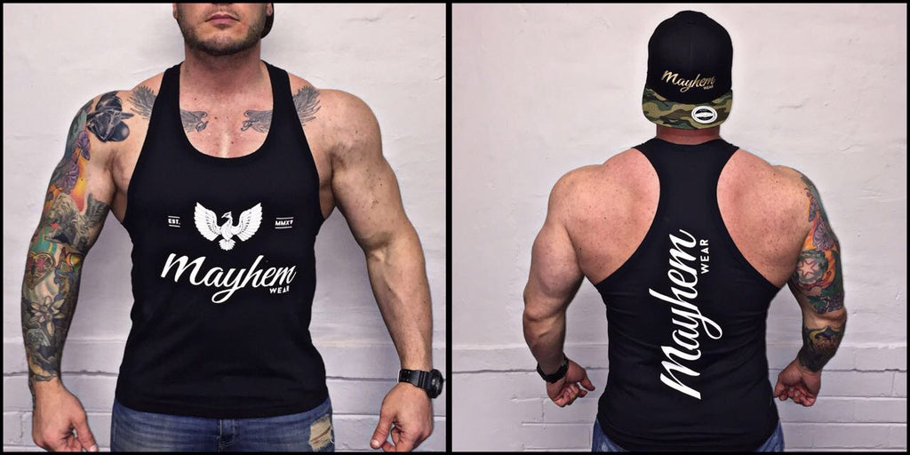 Black Stringer With White Logo