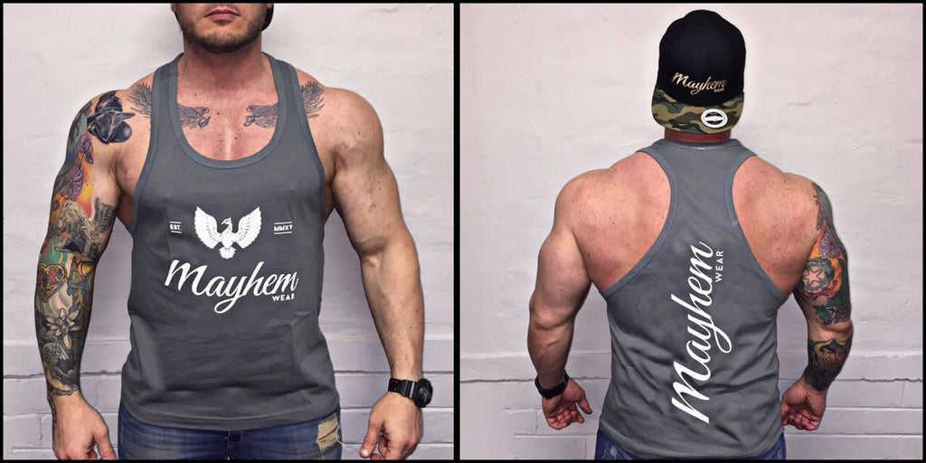 Grey Stringer With White Logo