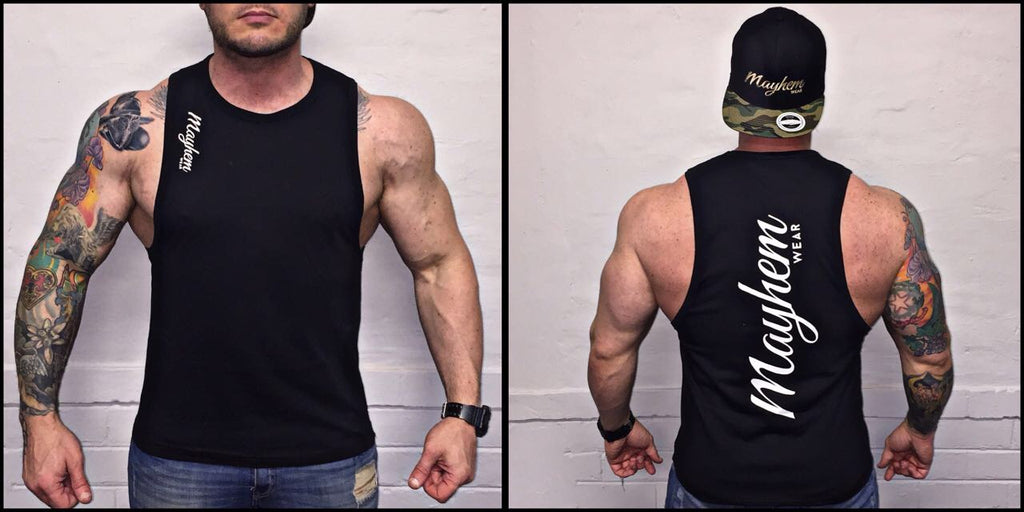Black LAH Vest With White Logo