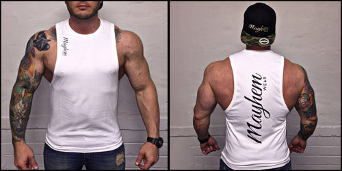 White LAH Vest With Black Logo