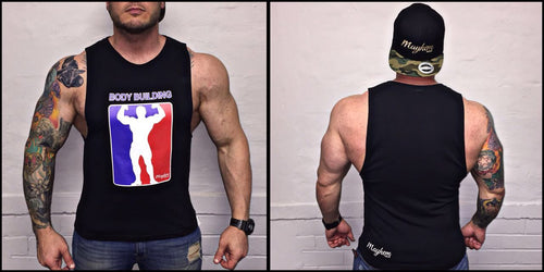 Black Bodybuilding LAH Vest