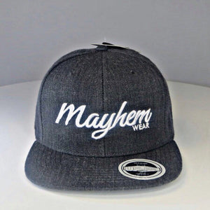 Dark Grey Snapback with White Logo