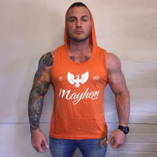 Orange Hoody Vest With White Logo