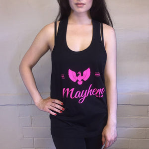 Black Stringer With Pink Logo