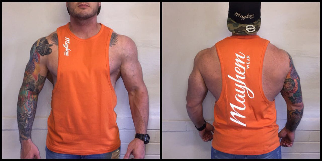 Orange LAH Vest With White Logo