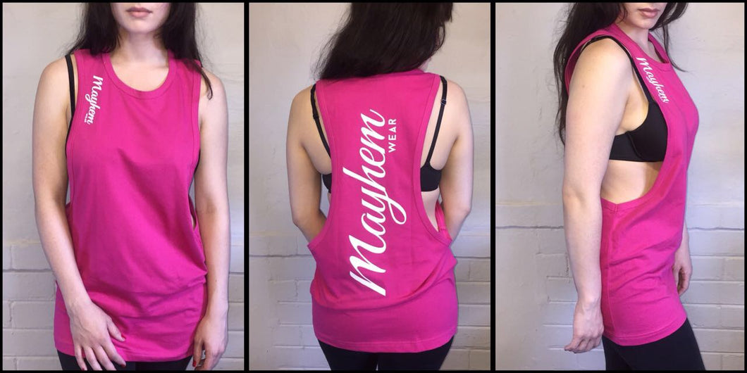 Pink LAH Vest With White Logo
