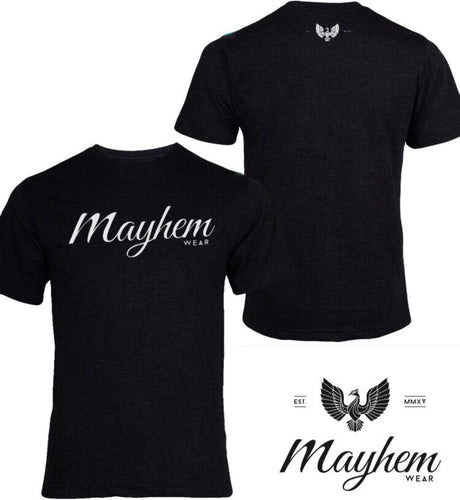Black T-Shirt with White Logo