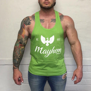 Green Stringer With White Logo