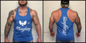 Blue Stringer With White Logo