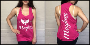 Pink Stringer With White Logo