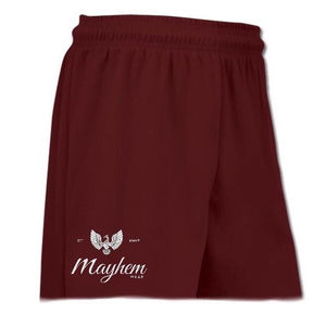 Maroon Shorts With Small Logo