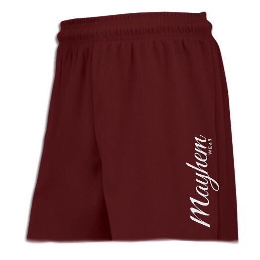 Maroon Shorts With Large Logo