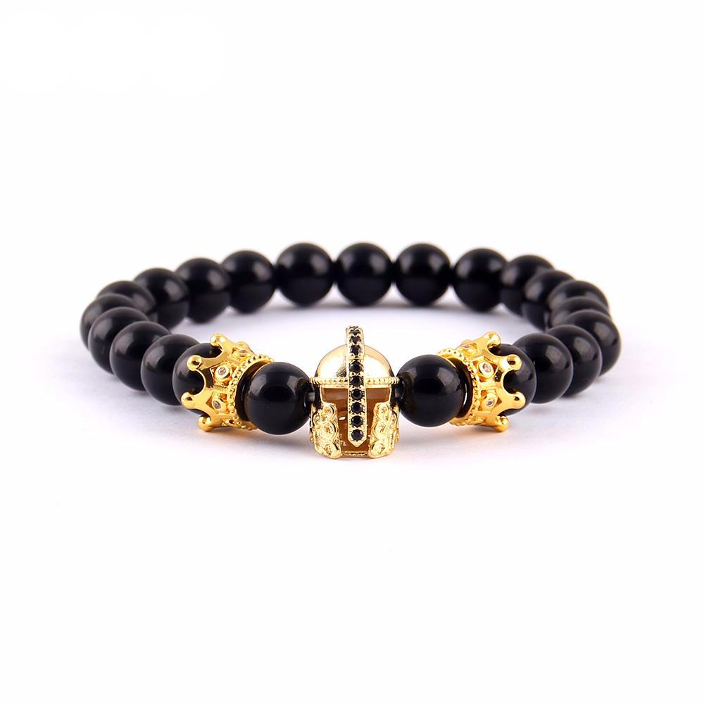 Luxury  Warrior Helmet & Crown Bracelet - Ydentity - Fashion Accessories