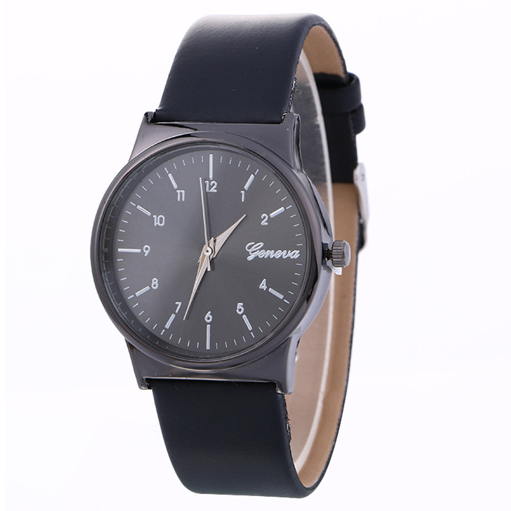 Simple Neutral Leather Watch - Ydentity - Fashion Accessories