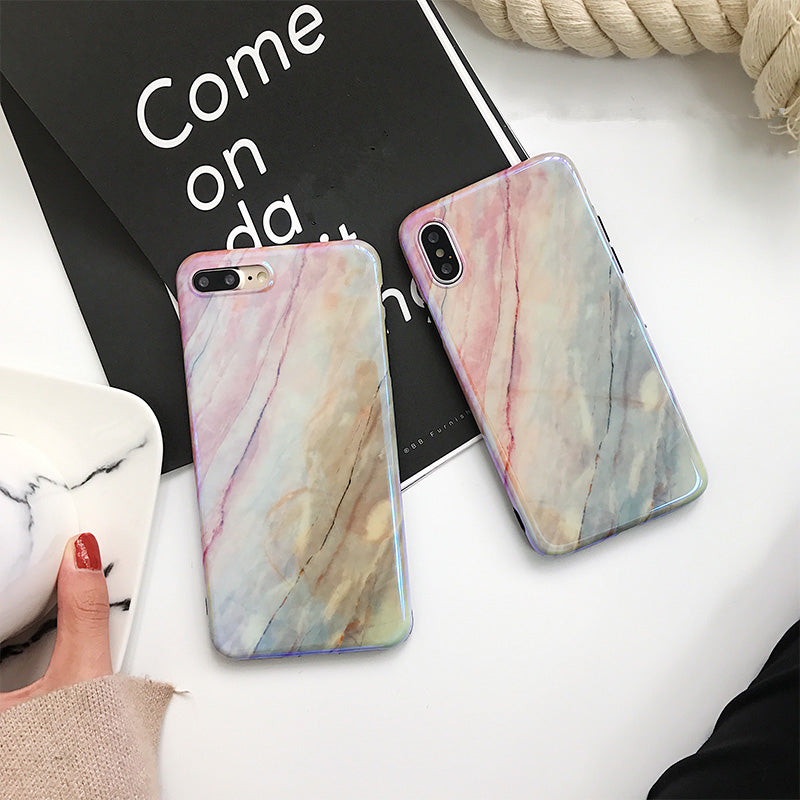 Shinny Marble Case For iPhone