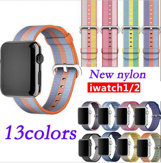 Nylon Band Strap, Band Color - Orange blue