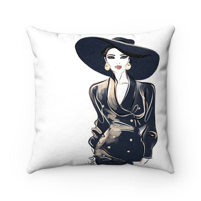 Faux Suede Square Pillow- Elegante