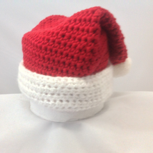 Load image into Gallery viewer, Crocheted Santa Hat (Newborn-6 Months Old)
