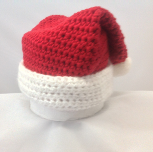 Crocheted Santa Hat (Newborn-6 Months Old)