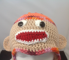 Load image into Gallery viewer, Sock Monkey Hat
