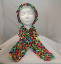 Load image into Gallery viewer, Bright Multi-color Hat and Scarf Set