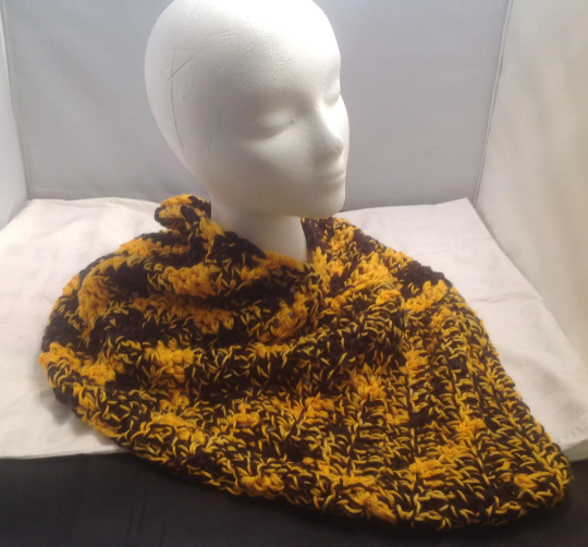 Gold, Yellow, & Black Hug Infinity Scarf