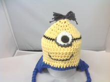 Load image into Gallery viewer, Minion Hat (Newborn-6 Month Old)