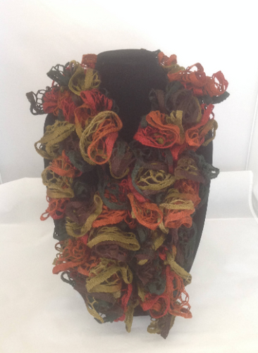 All the Colors of Fall Ruffle Edged Scarf