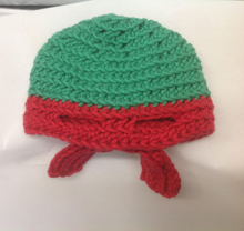 Load image into Gallery viewer, Newborn T.M.N.T. Raphael Hat