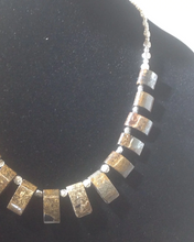 Load image into Gallery viewer, Bronzite Crystal Necklace with Earrings