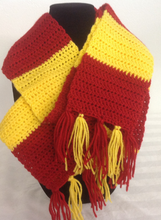 Load image into Gallery viewer, Crocheted Gryffindor Scarf
