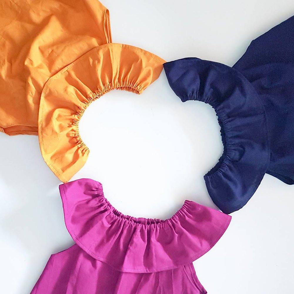 Essentials Collection Ruffle Neck Top *Made To Order Sizes 0-8