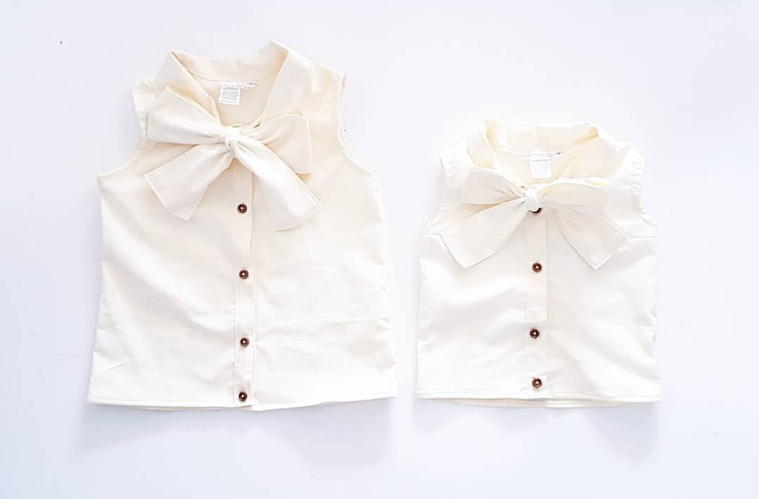 Essentials Collection Necktie Blouse *Made To Order Sizes 2-10