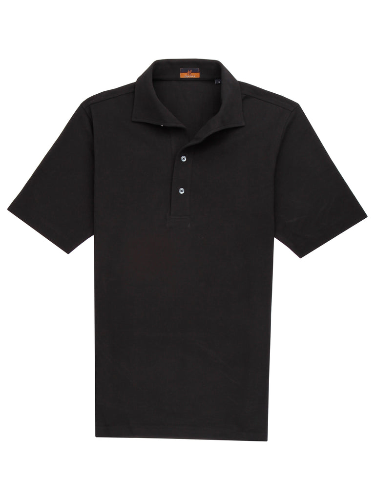 Ascot Chang One Piece Collar Black Polo is made with our in-house 100% cotton pique, our polos are cut in a slim fit and feature an Italian one piece collar.