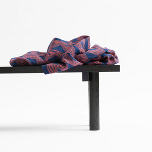 JENNIFER KENT AND DEREK WELSH COLLABORATION - NAVY + ORANGE BLANKET