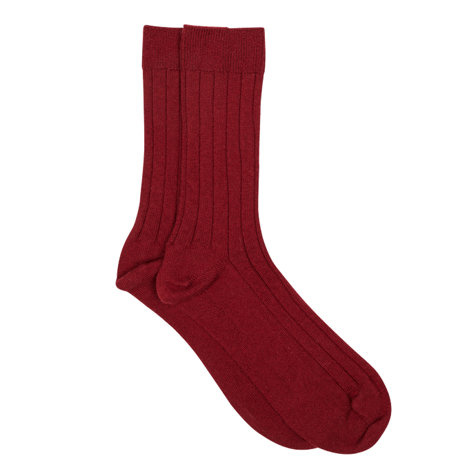 SOCKS - BURGUNDY