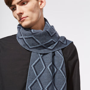 TRANSFER SCARF - BLUE