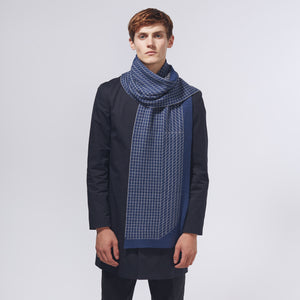 3D GRID SCARF - NAVY