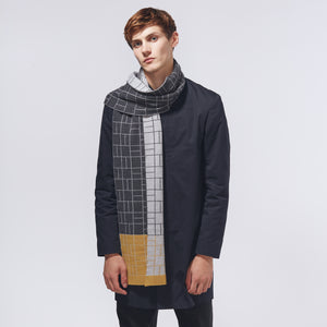 BLOCK SCARF - YELLOW